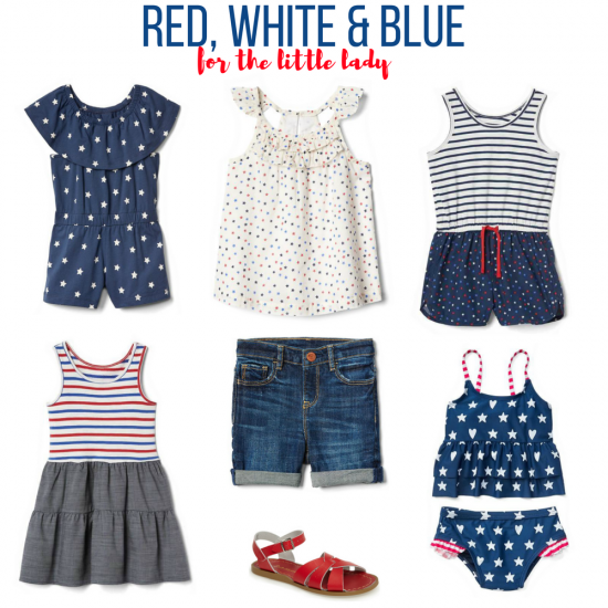 Red, white & blue for the little lady