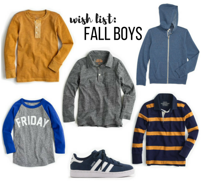 WISH LIST: FALL FOR BOYS
